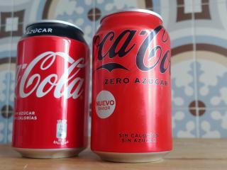 Nuevo diseño de la lata de Coca-Cola Zero