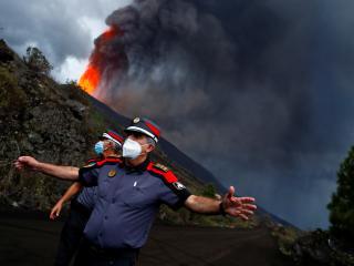 Erupción de un volcán en La Palma