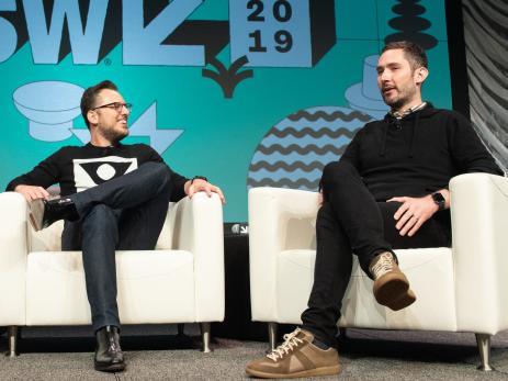 Los fundadores de Instagram, Mike Krieger (izquierda) y Kevin Systrom (derecha)
