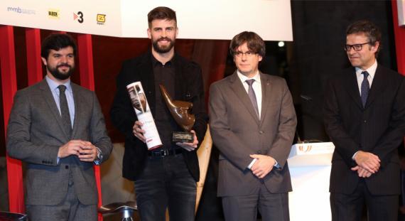 Piqué al recoger el premio al mejor deportista catalán