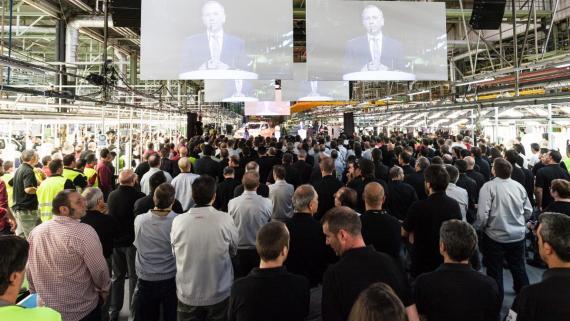 Anuncio del inicio de producción en Nissan Barcelona