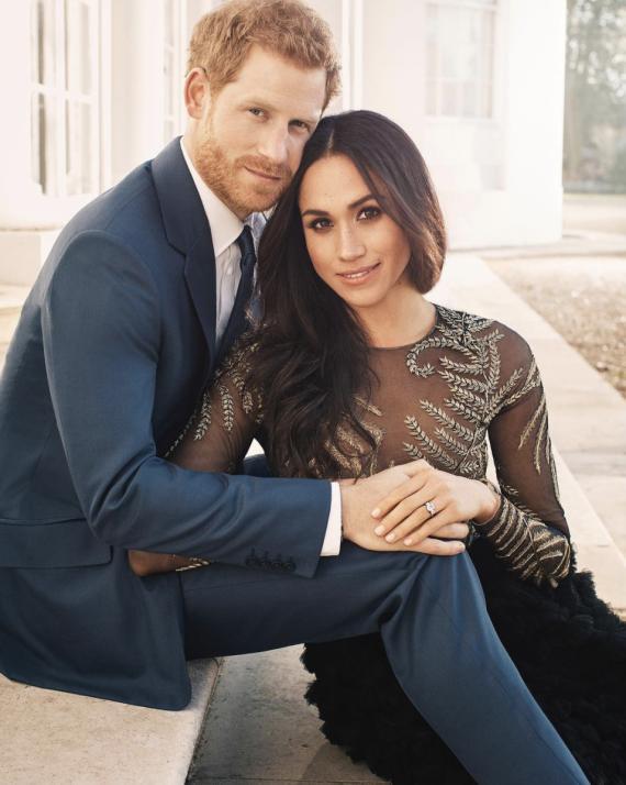 Imagen del compromiso del príncipe Harry y Meghan Markle tomada por Alexi Lubomirski.
