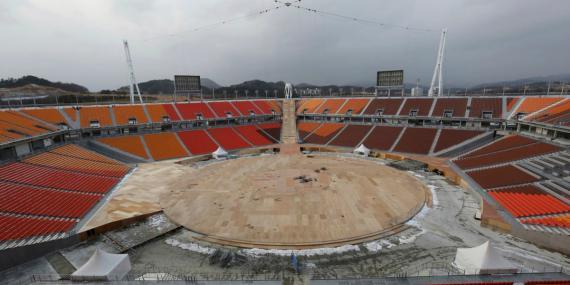 El estadio olímpico de Pyeongchang, en Corea del Sur