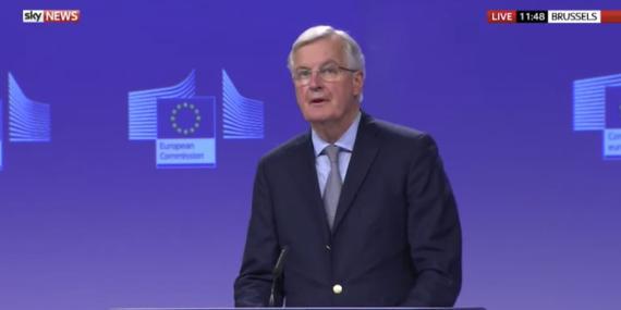 El negociador jefe de la Unión Europea para el Brexit, Michel Barnier, el miércoles en Bruselas.