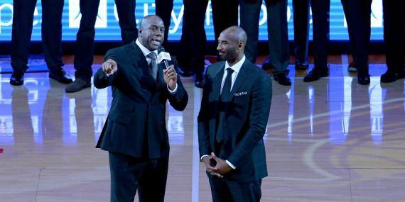 Retirada Kobe Bryant-Magic Johnson-NBA