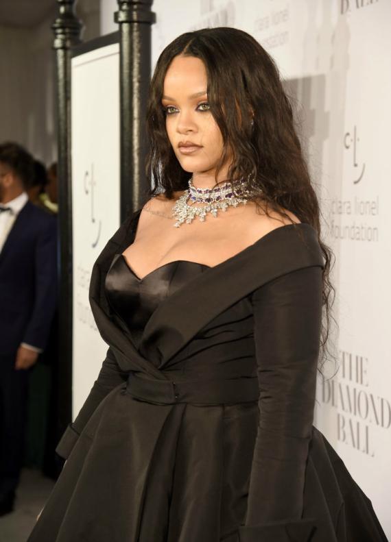 La cantante Rihanna en una fiesta celebrada en el hotel Cipriani de Nueva York en septiembre de 2017.