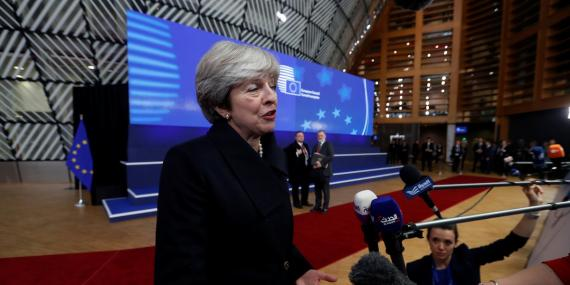 Theresa May en la cumbre de la UE