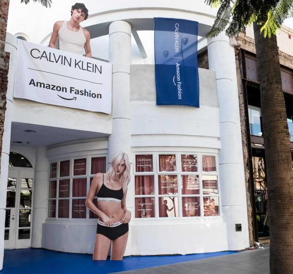 Tienda pop-up Calvin Klein-Amazon