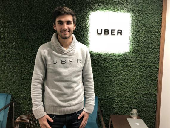 El responsable de UberEats en Londres (Reino Unido), Toussaint Wattinne.