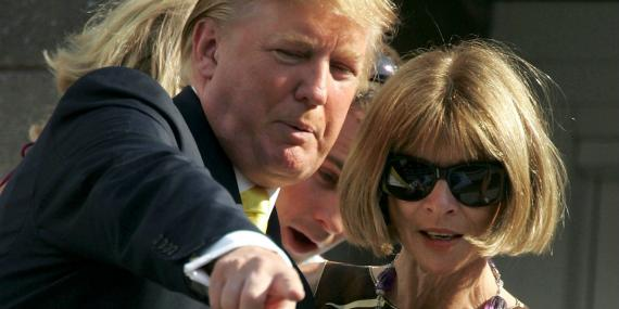Anna Wintour y Donald Trump en 2005.