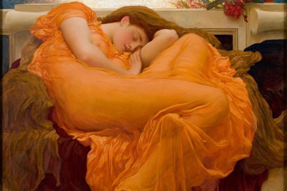 Así representó 'El Sueño' Frederic Leighton en 1895
