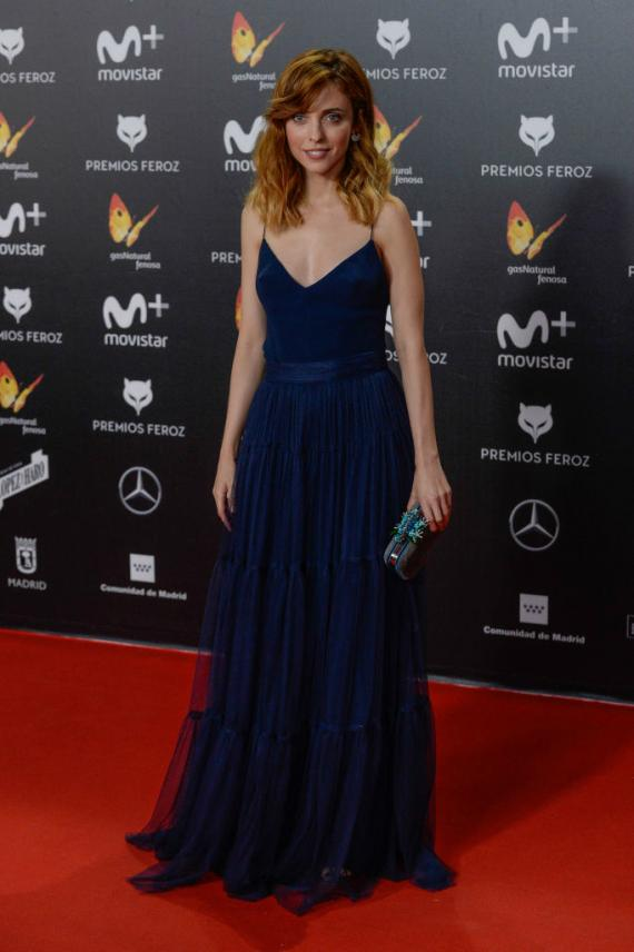 Leticia Dolera en la alfombra roja de los premios Feroz 2018.