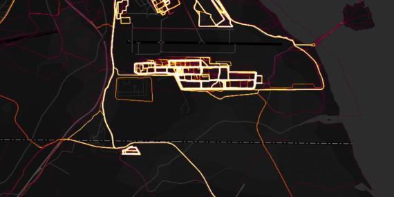 El mapa de la actividad en Yibuti que ha levantado polémica entre analistas de seguridad.