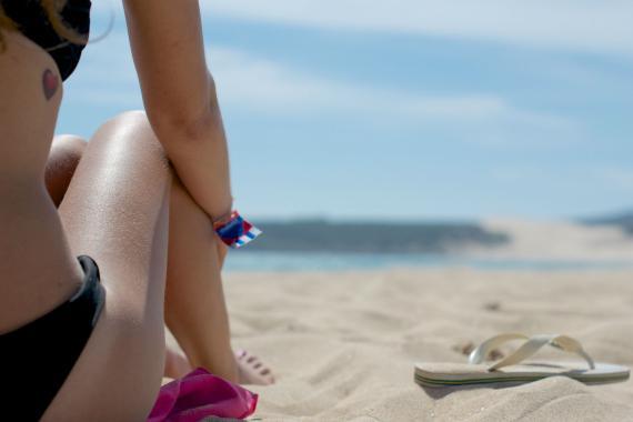 Mar Sol Playa Bikini Chanclas Proteccion Solar