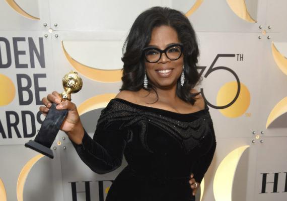 Oprah Winfrey, en los Globos de Oro