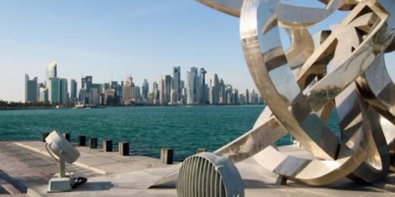 Edificios de Doha, la capital de Qatar