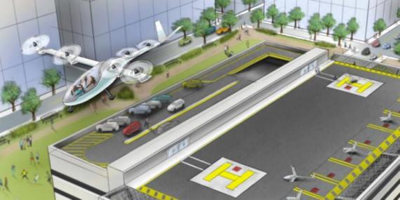 Los coches voladores de Uber tendrán su primera demostración en Los Ángeles, en mayo.