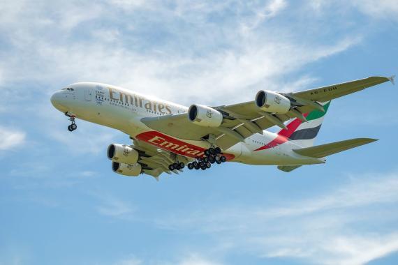 Un Emirates A380.