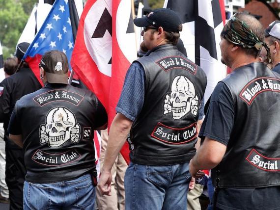 "Manifestantes del ""Unite the Right"" en Charlottesville (Virgina)."