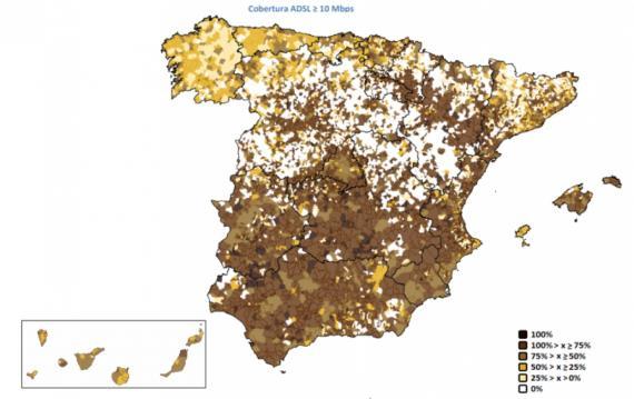 mapa de los pueblos sin internet en españa