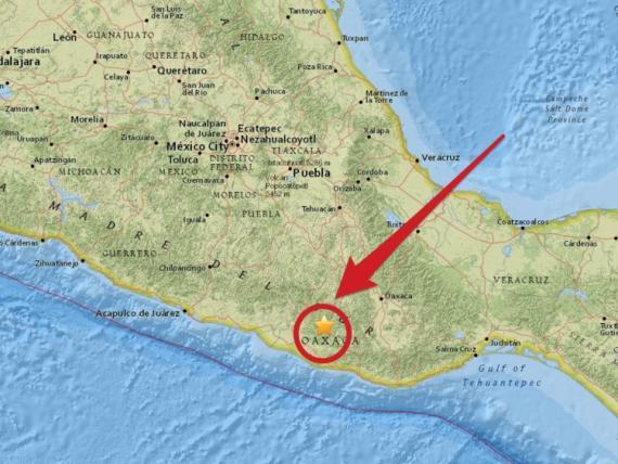 Mapa del último terremoto en México
