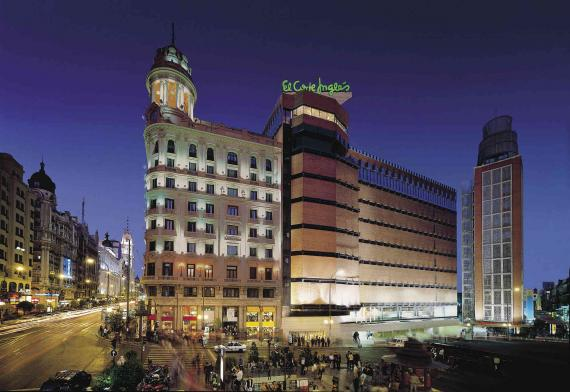 Tienda de El Corte Inglés en la Plaza de Callao de Madrid.