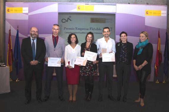 Axel Springer fue galardonada con el Premio Empresa Flexible 2017.