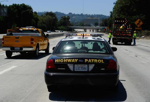 coche de la policia de California