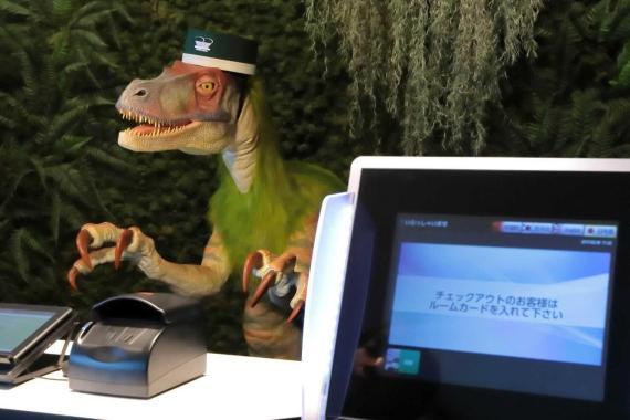 El Henn na Hotel Maihama de Tokio cuenta con dos dinosaurios autómatas como recepcionistas del hotel.