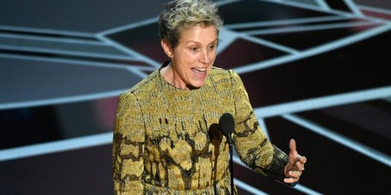Frances McDormand, ganadora del Oscar a mejor atriz en la 90ª ceremonia de la Academia