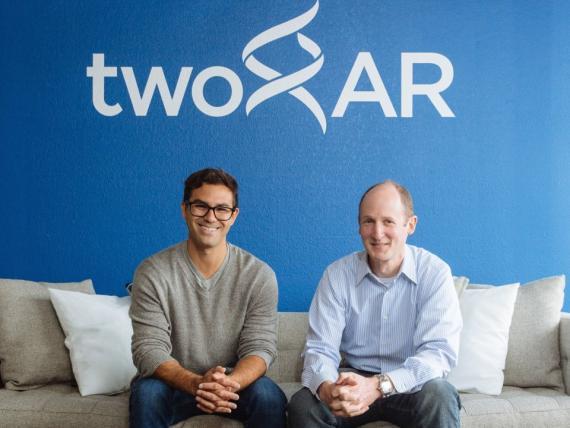 TwoXar cofounders Andrew M. Radin and Andrew A. Radin Edit  Los cofundadores de TwoXar Andrew M. Radin y Andrew A. Radin