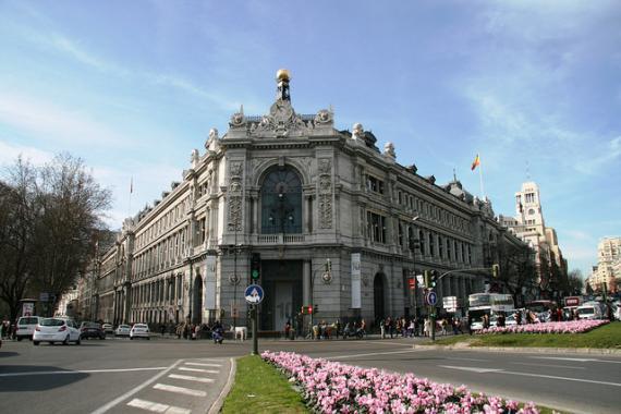 Imagen de la sede central de Banco de España.