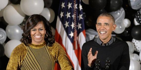 La ex primera dama y el ex presidente de los Estados Unidos, Michelle y Barack Obama.