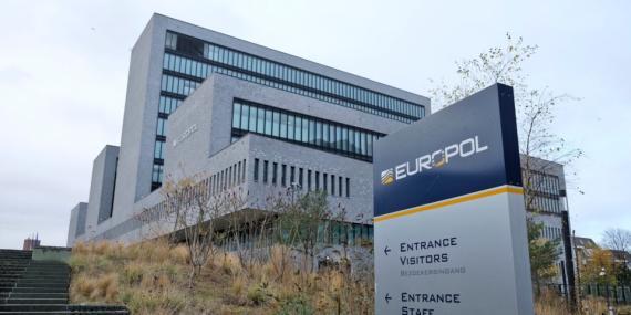 La sede de la Europol, que coordina las políticas sobre criptomonedas en Europa