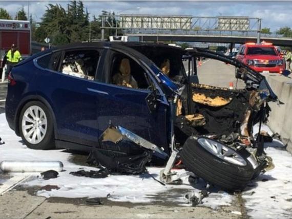 Accidente del Modelo X de Tesla