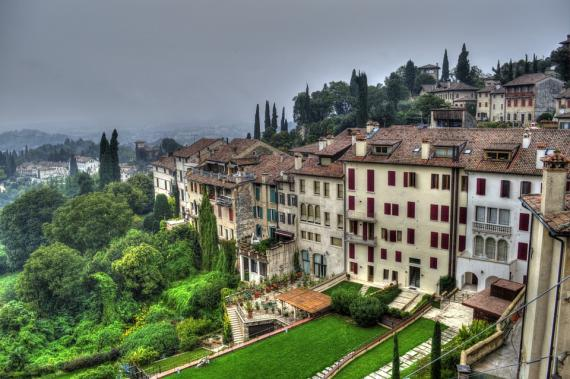 Casas de la montaña española