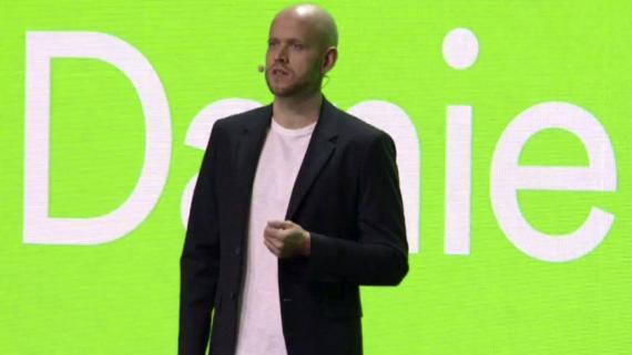 Daniel Ek, CEO de Spotify, durante un evento con los inversores de la compañía.