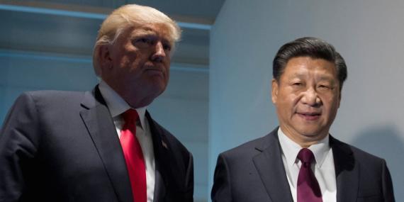 El presidente de los Estados Unidos, Donald Trump, y el presidente chino, Xi Jinping.