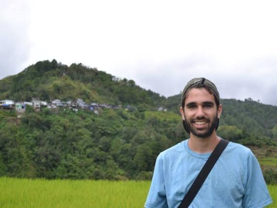 El autor en Banaue, Filipinas