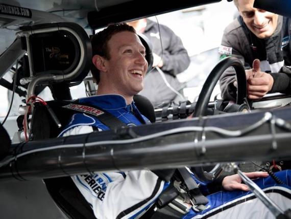 Mark Zuckerberg, en un coche
