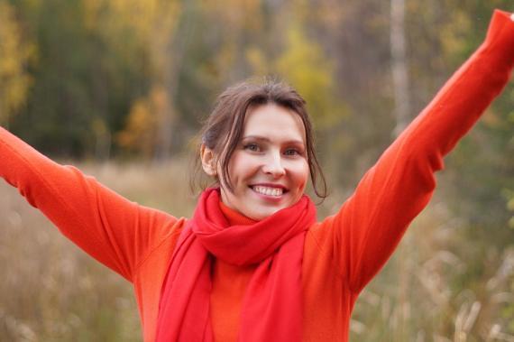 Persona feliz y optimista