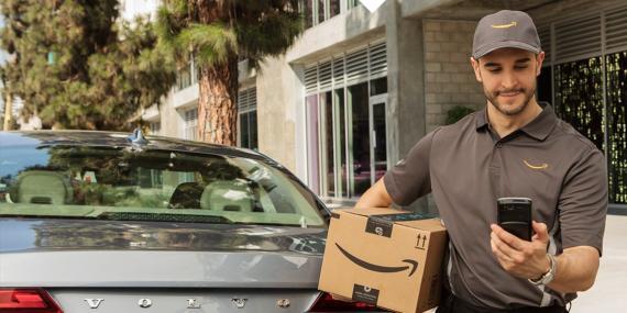Imagen ilustrativa del servicio Amazon Key-In car.