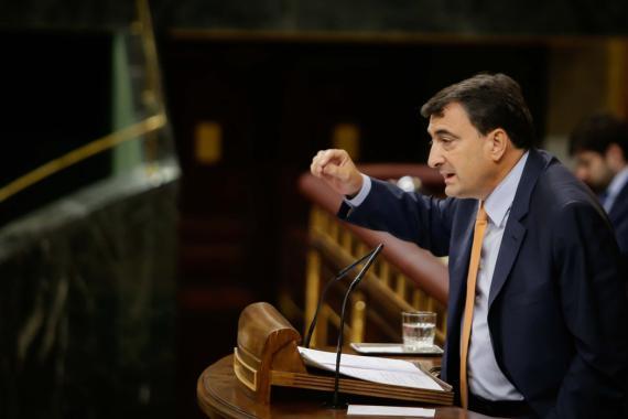 Aitor Esteban, portavoz del Partido Nacionalista Vasco en el Congreso de los Diputados.