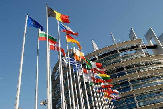 Banderas Unión Europea Parlamento