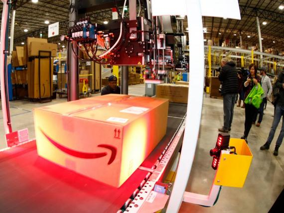 About 80 Amazon workers were treated after an incident at a warehouse in New Jersey on Wednesday morning.