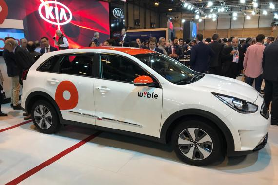 Uno de los 500 coches que ofrecerá Wible durante la presentación del servicio.