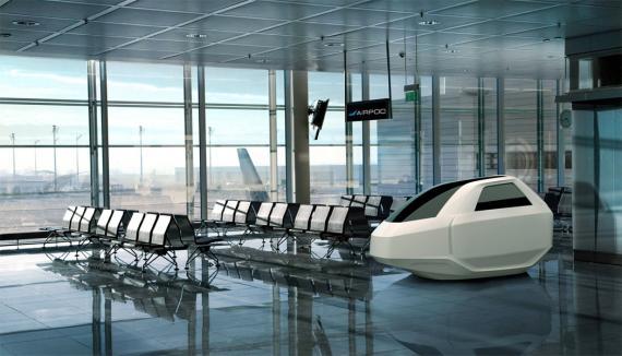 AirPod, invento para dormir en aeropuertos