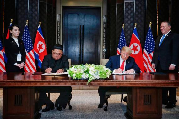 Documento acuerdo Corea del Norte y Estados Unidos