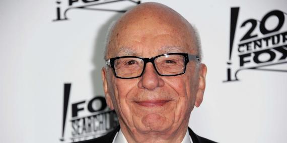 El empresario y principal accionista de Fox Rupert Murdoch.