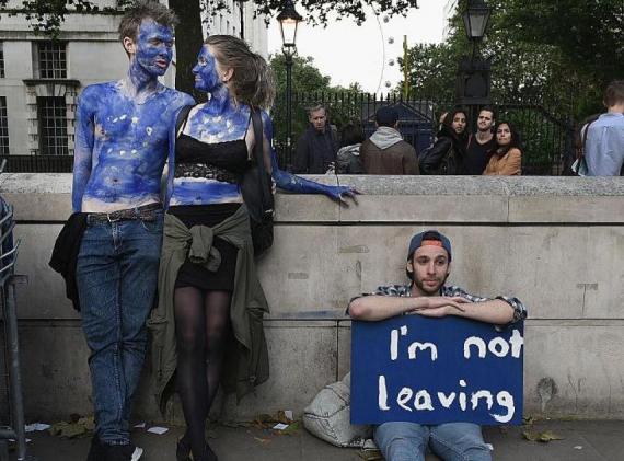 Manifestantes contra el Brexit
